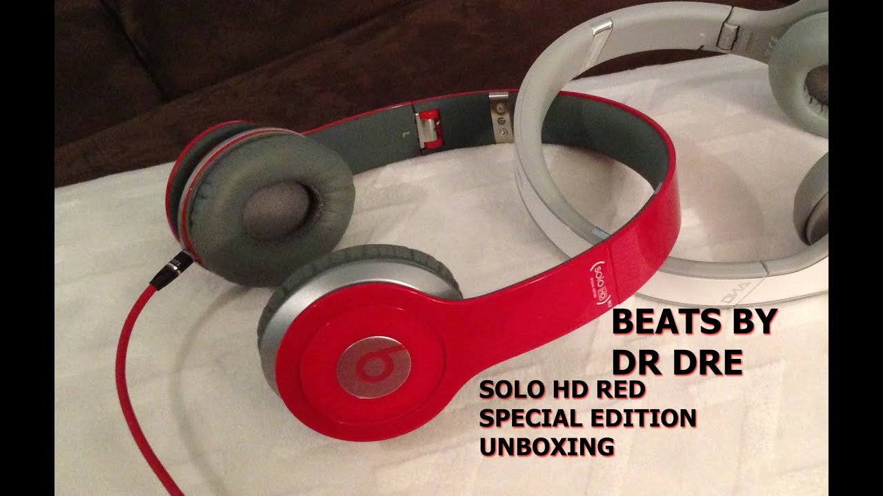 beats by dr dre solo hd red special edition unboxing youtube