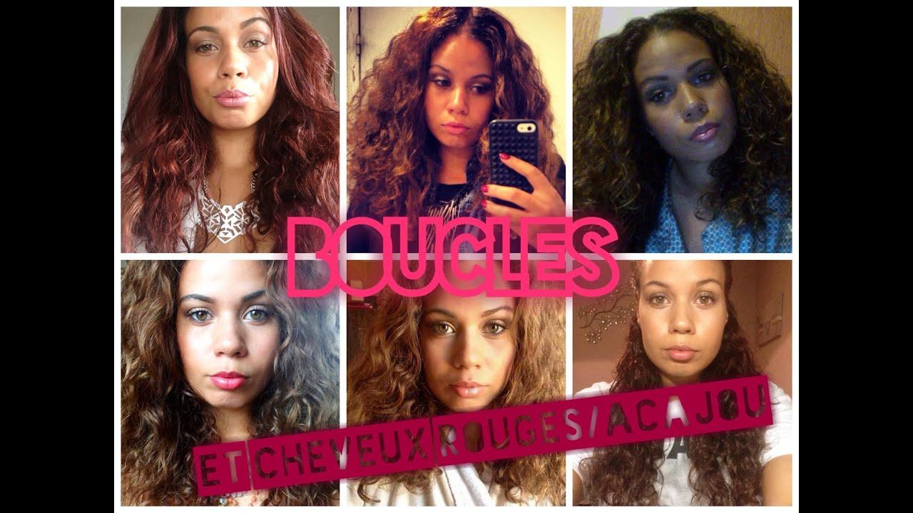 routine cheveux boucls wavy to curly et repigmentation de cheveux acajourouge youtube - Coloration Cheveux Boucls