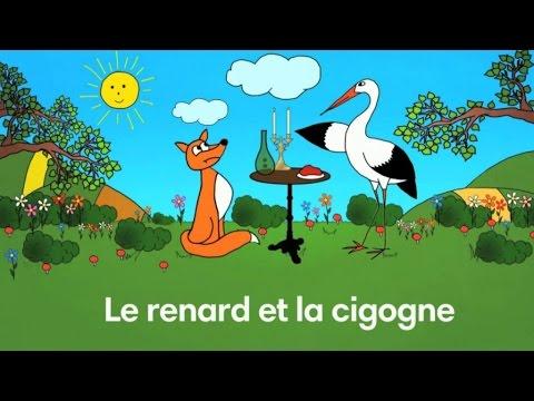 Le renard et la cigogne fable de la fontaine par sidney oliver youtube - Le renard et la cigogne dessin ...