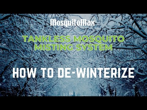 Mosquito Misting System Tankless De Winterize Instruction
