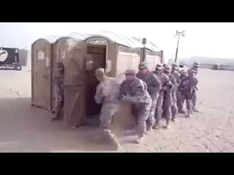 Hilarious Marine Tactical Drill with Portable Toilet