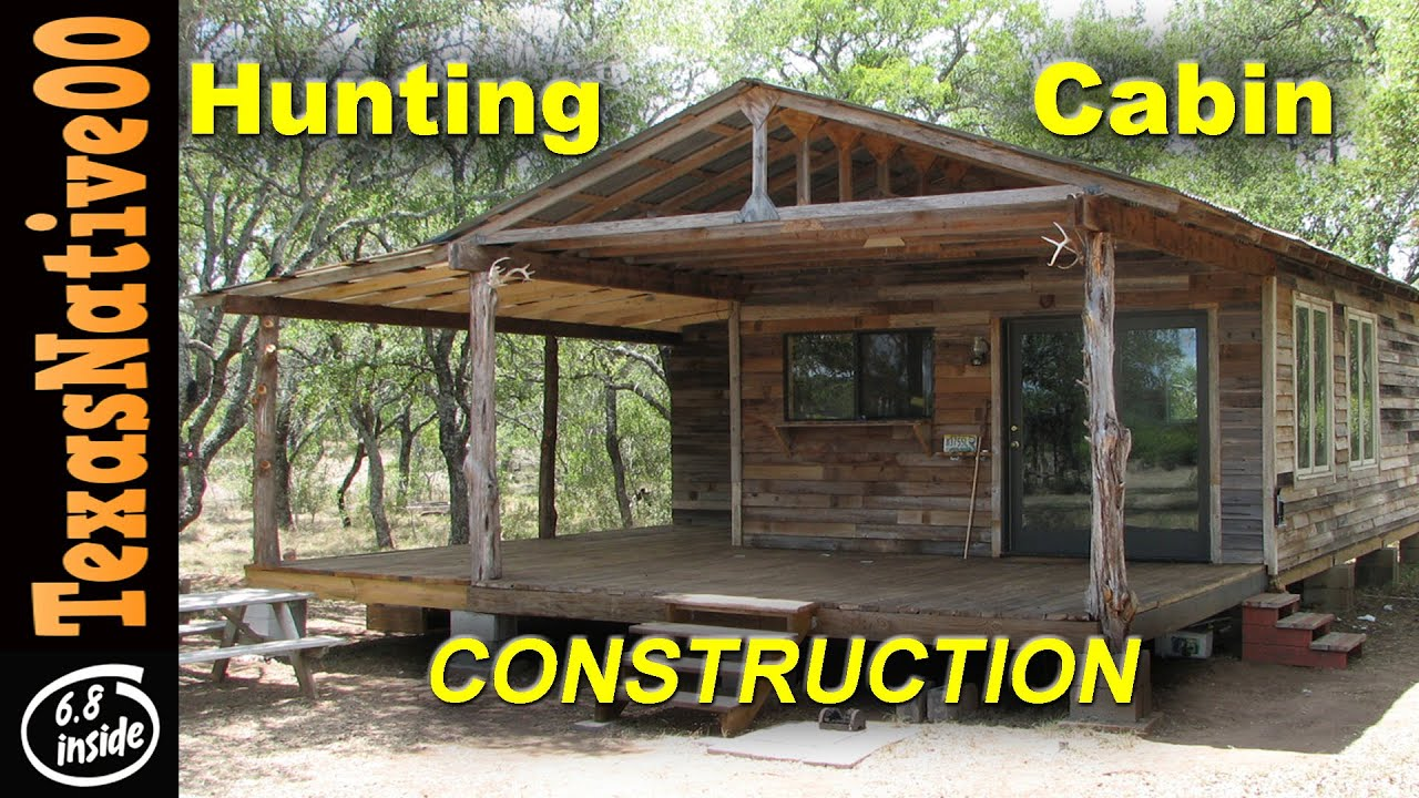 Hunting Cabin Construction Tour Part 1 YouTube