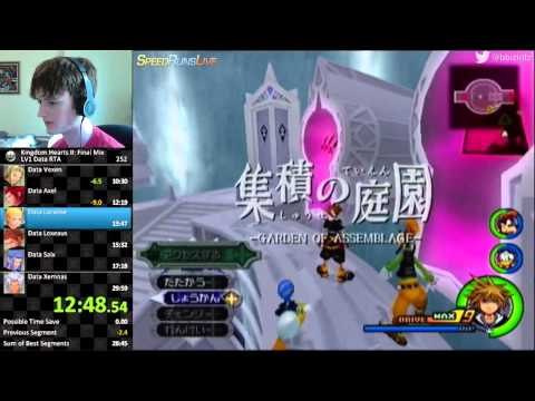 Kingdom Hearts 2 Final Mix (LV1 Data Org RTA) in 29:35 by Bl