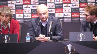 Presskonferens efter segern borta mot Besiktas JK