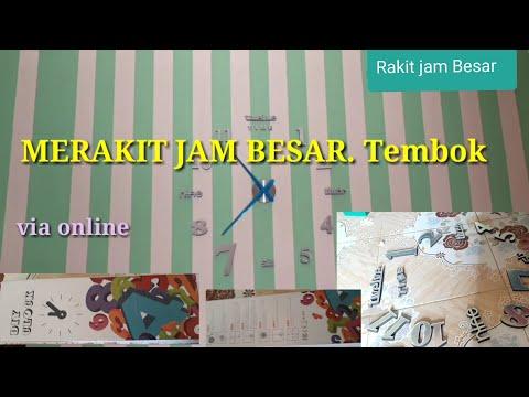 #REVIEW# pasang #jam besar# Pesan Via online.