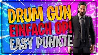 🥁 🔫 😳 DRUM GUN EINFACH OP! So machst du easy Punkte!   Fortnite Battle Royale