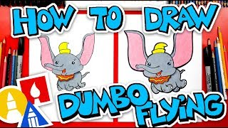 How To Draw Dumbo Flying