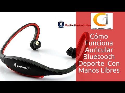 Como Configurar Auricular Diadema Audífono Deporte Sport Bluetooth a Móvil o Tablet Deportivos