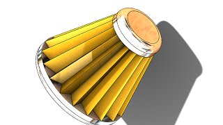 SolidWorks ʬ Tutorial #190car: Engine Air Filter