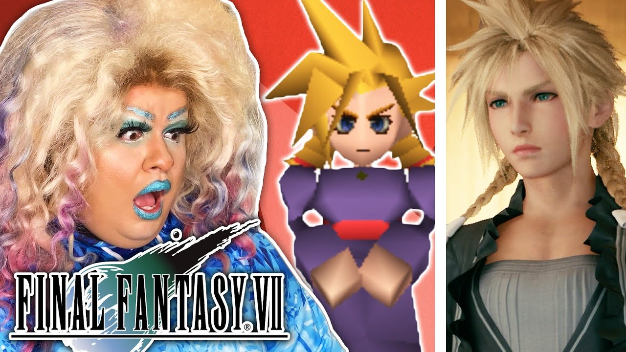 Download Real Drag Queen Reviews Cloud's Drag Makeover in Final Fantasy VII
