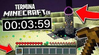 Este jugador TERMINA MINECRAFT en MENOS DE 4 MINUTOS! 😱💥 *RECORD MUNDIAL*