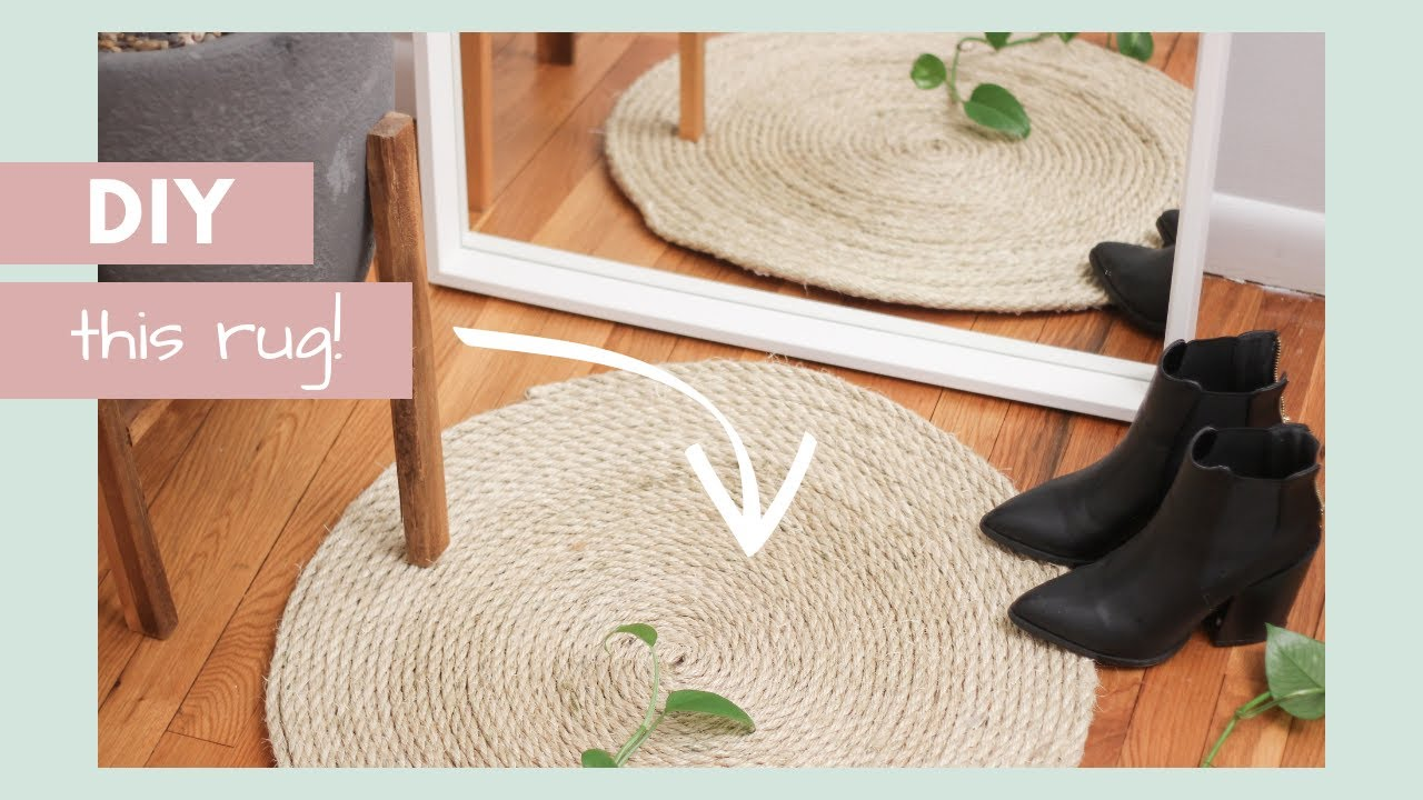 Diy Round Rope Area Rug Home Decor On A Budget