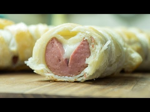 Puff Pastry Wrapped Hot Dogs