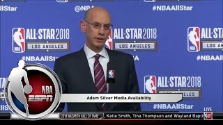 Adam Silver: I was proud of LeBron Jame...