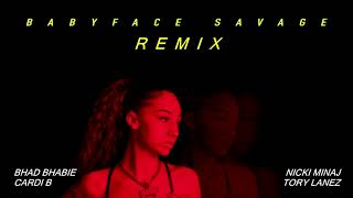 Bhad Bhabie Ft. Nicki Minaj, Cardi B, & Tory Lanez - Babyface Savage (Remix)