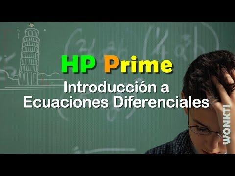 HP Prime, Referencia: Introducción a Ecuaciones Diferenciales