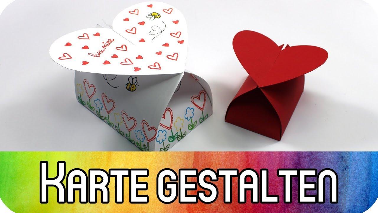 Verpackungen mit Herz zum Valentinstag inkl. kostenloser Vorlage ...
