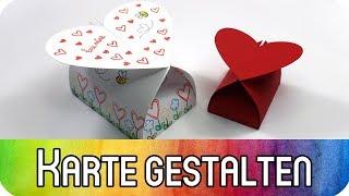 Verpackungen mit Herz zum Valentinstag inkl. kostenloser Vorlage