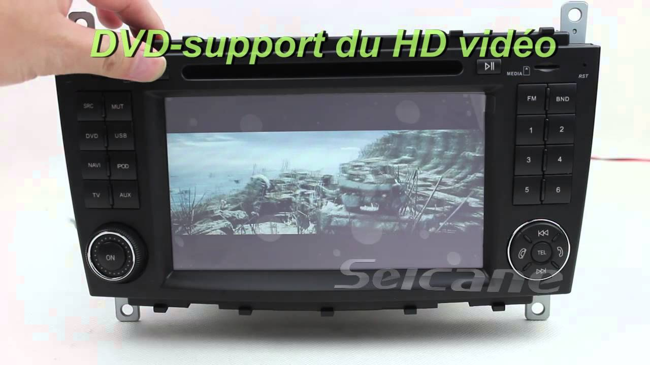mercedes w203 7 pouces autoradio dvd gps tv bluetooth ipod. Black Bedroom Furniture Sets. Home Design Ideas