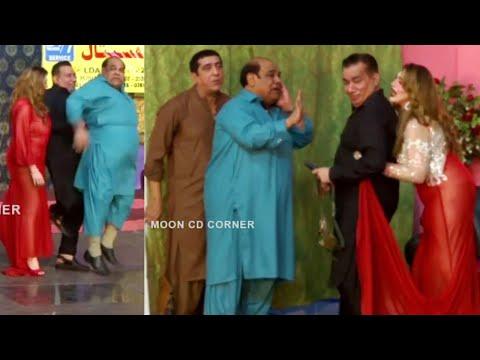 Zafri Khan and Nasir Chinyoti with Khushboo Stage Drama Thug Badmash Comedy Clip 2020