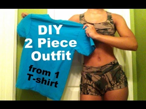 DIY  T-shirt Reconstruction: Two Piece Matching Outfit