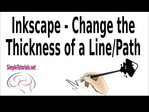 Inkscape Line Thickness - Change The Thickness Of Lines/Paths