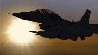 "F16 FF 5.5 EMERGENCY TUTORIALS ""FLAMEOUT LANDING"" HD"