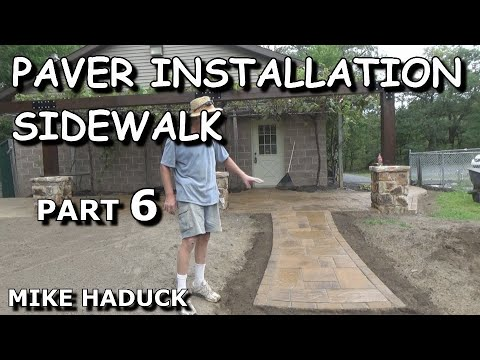 How I install a paver sidewalk or brick (Mike Haduck)