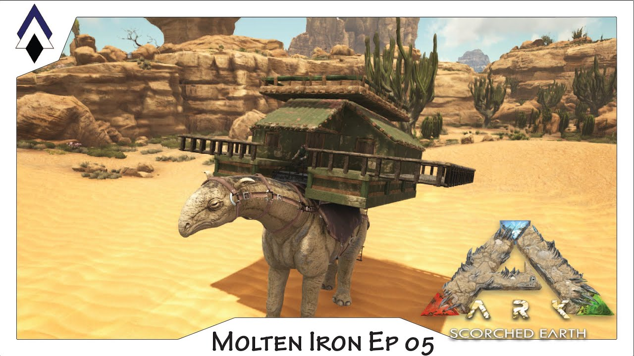 ARK Molten Iron Ep 5 Paracer Caravan Platform Build YouTube