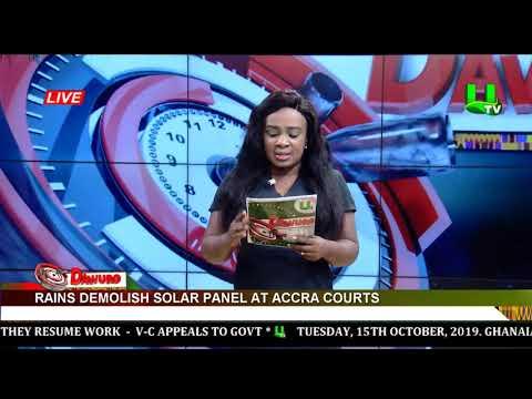 Rains demolish solar panel at Accra courts