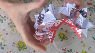 оригами шар из модулей