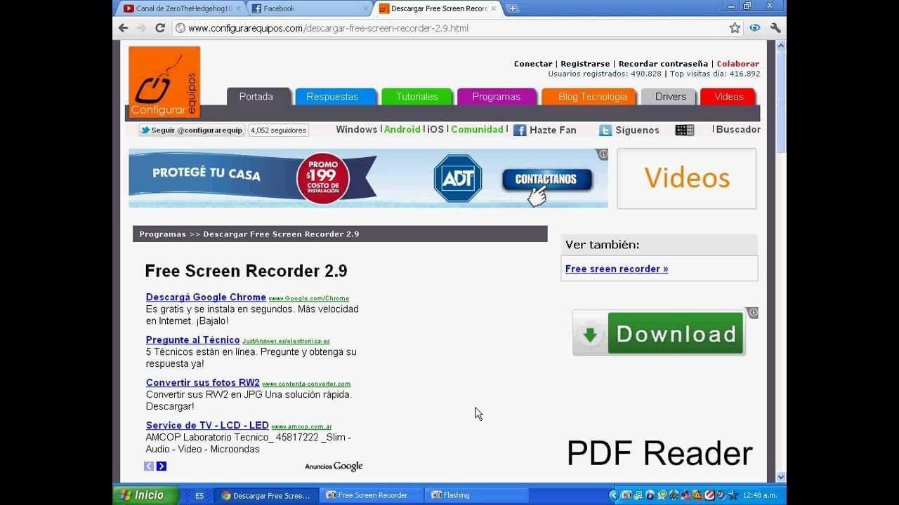 como usar free screen video recorder