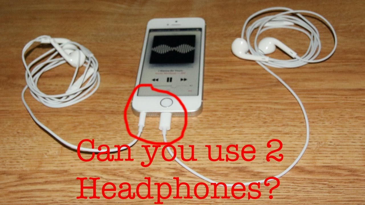 small resolution of can you use two headphones on a iphone 6 via lightning