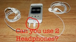 Download lagu Can you use two headphones on a iPhone 6 via lightning?