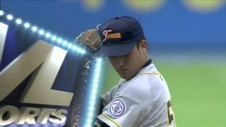 20140712-1 爆米花 綺麗 vs 台電 3上 陳胤澔敲出強勁飛球,只可惜方向不佳,直接落入一壘手手套中