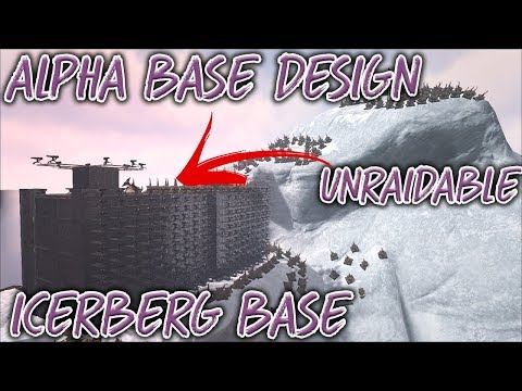 ARK | OVERPOWERED ALPHA PVP BASE DESIGN ON 10/10 ICEBERG [Tutorial][Ark survival evolved]