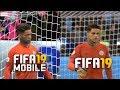 FIFA 19 Mobile vs FIFA 19 | Faces Comparison | Man City