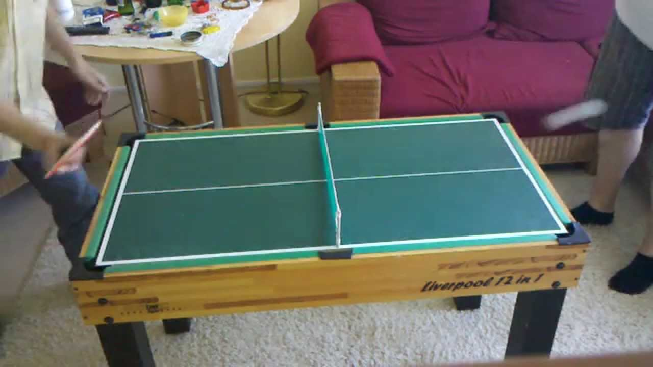 mini tischtennis - phil vs. seb (zweiter satz) - youtube