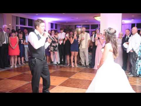 Groom Surprises Bride at wedding Reception!!