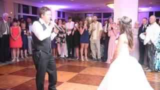 Groom Surprises Bride at wedding Reception!!