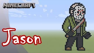 Minecraft: Pixel Art Tutorial: Jason (Friday the 13th)