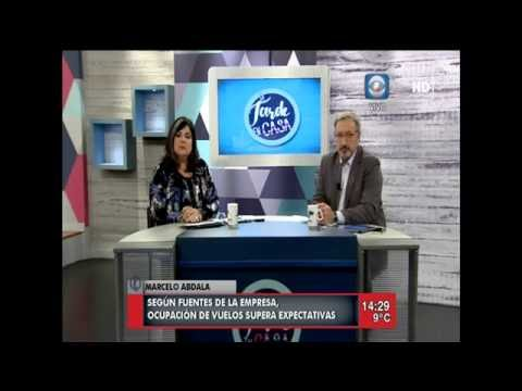 Alas Uruguay ,la directiva de la aerolinea es entrevistada por Obaldia y Sotelo.2816