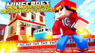 HOW MUCH TNT WILL IT TAKE TO BLOW UP ROPO'S HOUSE? - Minecraft Adventure