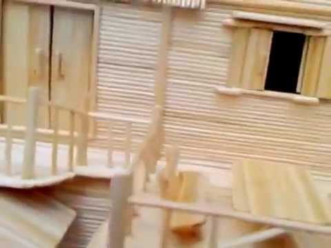 nhà làm bằng tăm