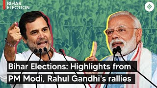 Bihar Elections: Highlights from PM Modi, Rahul Gandhi's rallies