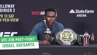 UFC 236 Post-Fight Press Conference: Israel Adesanya