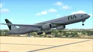 FSX Flights: Pakistan International Airlines (PIA) PK733 Lahore To Paris Via Milan.
