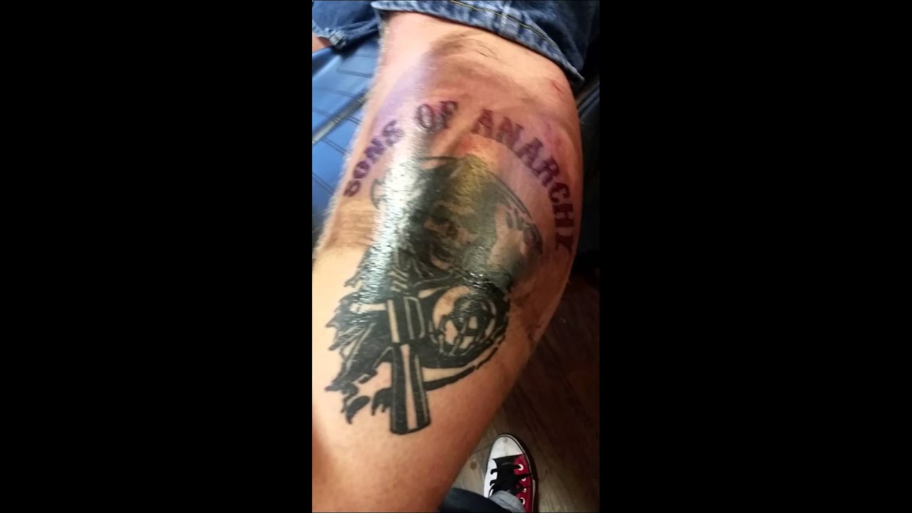 Sons of anarchy tattoo youtube for Sons of anarchy tattoos