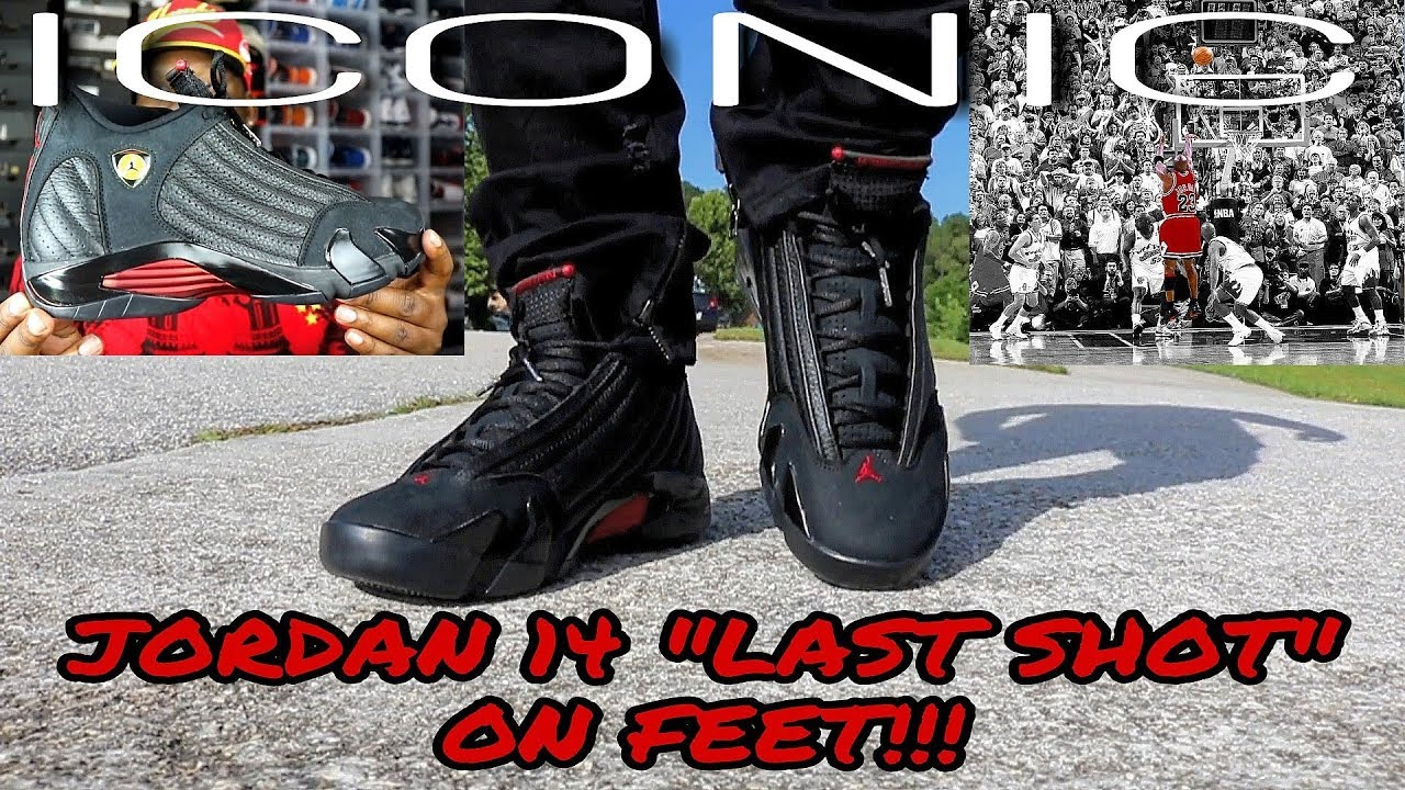 58938523782 DID YALL SLEEP ON THESE OGS?? JORDAN 14 LAST SHOT ON FEET!!! - YouTube