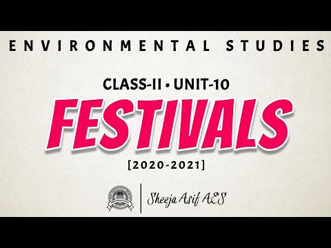 Festivals | Chapter-10 | Class-II | Environmental Studies